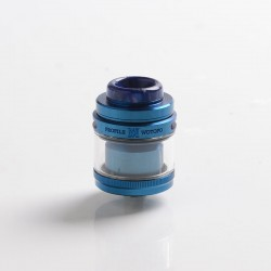 Authentic Wotofo Profile M RTA Rebuildable Tank Vape Atomizer - Blue, 3.1ml / 4.0ml, Mesh Coil, SS + Glass, 24.5mm Diameter