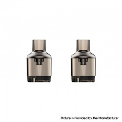 Authentic Voopoo TPP Empty Pod Cartridge for TPP Tank Atomizer / Drag 3 Kit / Drag X Plus Kit - Gun Metal, 5.5ml (2 PCS)