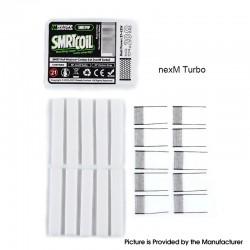 Authentic Wotofo SMRT Pod System Starter Kit / Pod Cartridge Replacement PnP nexMESH Turbo Mesh + Cotton Strip - (10 PCS)
