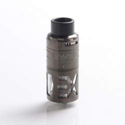 Authentic Exvape eXpromizer TCX DL RDTA Rebuildable Dripping Tank Vape Atomizer - Gunmetal, SS + Glass + POM, 7.0ml, 25mm Dia.
