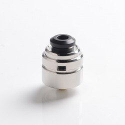 Authentic Yachtvape Claymore RDA Rebuildable Dripping Vape Atomizer w/ BF Pin - Polish Silver, 24mm diameter