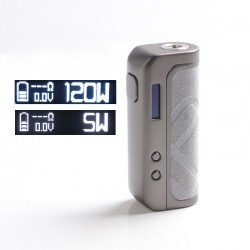 Authentic Augvape Foxy One 120 Vape Box Mod - Gun Metal + Alcantara, 5~120W, 1 x 18650 / 20700 / 21700