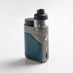 Authentic Vaporesso Swag PX80 Kit 80W Box Mod + Swag 4ml Pod Tank - Emerald Green, 5~80W, Axon Chip, 1 x 18650, 0.2ohm / 0.3ohm