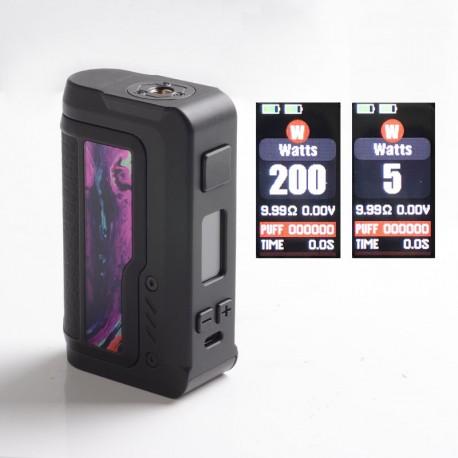 Authentic Vandy Vape Gaur-21 200W Dual 21700 Vape Box Mod - Wilight Purple, VW 5~200W, 2 x 18650 / 21700