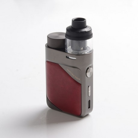 Authentic Vaporesso Swag PX80 Kit 80W Box Mod + Swag 4ml Pod Tank - Imperial Red, 5~80W, Axon Chip, 1 x 18650, 0.2ohm / 0.3ohm