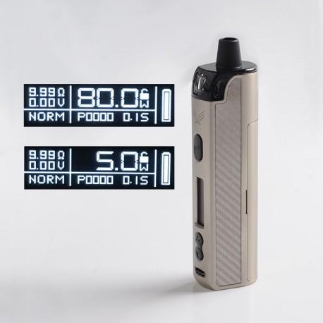 Authentic Vapefly Optima Pod System 80W Pod System Vape Mod Kit - Silver, 3.5ml Pod Cartridge, 5~80W, 1 x 18650