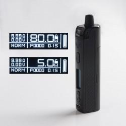 Authentic Vapefly Optima Pod System 80W Pod System Vape Mod Kit - Black, 3.5ml Pod Cartridge, 5~80W, 1 x 18650