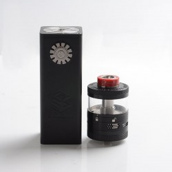 Authentic Steam Crave Aromamizer Titan V1.5 VV Box Mod + Titan V2 RDTA Combo Kit - Black, 0.1~8.4V, 4 x 18650, 20ml / 32ml