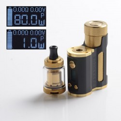 Authentic Mechlyfe x Fallout Vape x Mrjustright1 Paramour SBS Mod + XRP RTA Advanced Kit - Black Golden, 5~80W, 3.5ml, 24mm Dia