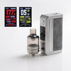 Authentic Voopoo Drag 3 177W VW Mod + TPP Tank Kit - Smoky Grey, 5~177W, 2 x 18650, GENE.FAN 2.0 Chip, 5.5ml, 0.15ohm / 0.2ohm