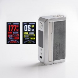 Authentic Voopoo Drag 3 177W VW Box Mod - Smoky Grey, 5~177W, 2 x 18650, GENE.FAN 2.0 Chip