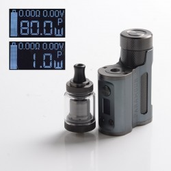 Authentic Mechlyfe x Fallout Vape x Mrjustright1 Paramour SBS Mod + XRP RTA Basic Kit - Grey GunMetal, 5~80W, 3.5ml, 24mm