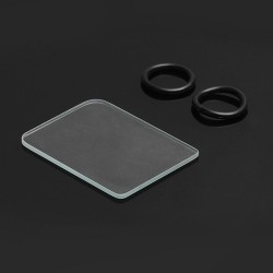 SXK Replacement Tank Cover Plate + O-rings for Billet Box Exocet Mod - Glass + Silicone