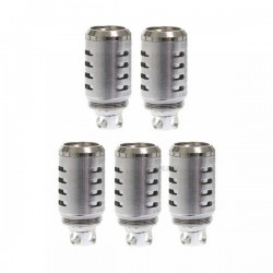 Authentic SMOKTech TF-Q4 Quadruple Coil Heads for TFV4 Tank - Silver, 0.15 Ohm (40~140W) (5 PCS)