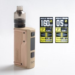 Authentic VOOPOO Argus GT 160W TC VW Variable Wattage Box Mod + PnP Pod Tank Vape Kit - Desert Yellow, 5~160W, 4.5ml, 2 x 18650