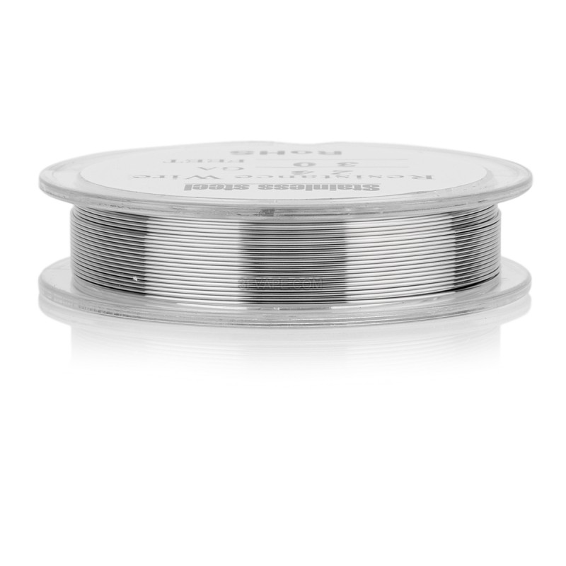 Silver 316 Stainless Steel 24 AWG Resistance Heating Wire for RBA
