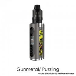 Authentic Lost Vape Grus 100W VW Box Mod + 5.0ml UB Pro Pod Tank Kit - Gunmetal / Puzzling, 5~100W, 1 x 21700 / 20700 / 18650