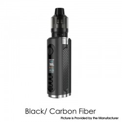 Authentic Lost Vape Grus 100W VW Box Mod + 5.0ml UB Pro Pod Tank Kit - Black / Carbon Fiber, 5~100W, 1 x 21700 / 20700 / 18650