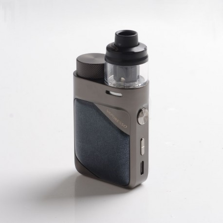 Authentic Vaporesso Swag PX80 Kit 80W Box Mod + Swag 4ml Pod Tank - Gunmetal Grey, 5~80W, Axon Chip, 1 x 18650, 0.2ohm / 0.3ohm