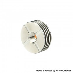510 to 510 Stainless Steel Heat Sink for Atomizer with 510 Threading Connection - 22mm Diameter (1 PC)