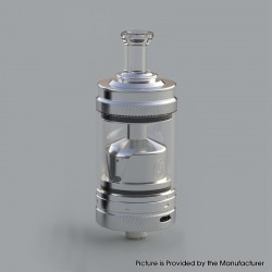 Authentic Auguse MTL / DTL V2 RTA Rebuildable Tank Vape Atomizer - Silver, 3.0ml, SS + Glass, 22 Diameter