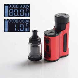 Authentic Mechlyfe x Fallout Vape x Mrjustright1 Paramour SBS Mod + XRP RTA Basic Kit - Red Black, 5~80W, 3.5ml, 24mm Diameter