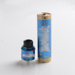 Apocalypse GEN 2 Style Mechanical Mod + RDA Rebuildable Dripping Atomizer Kit - Blue, Brass, 1 x 18650, 24.5mm Diameter