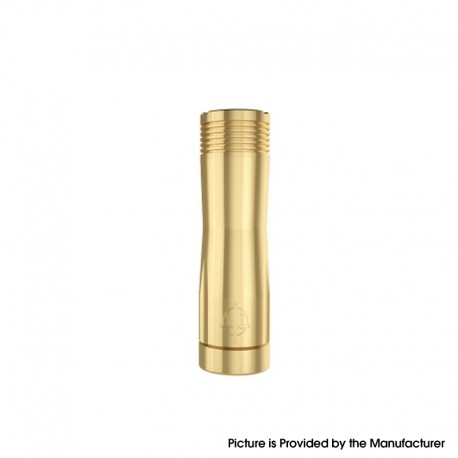 Authentic Hellvape Trishul V2 Semi-Mech Vape Mechanical Mod - Brass, 1 x 18650 / 20700 / 21700