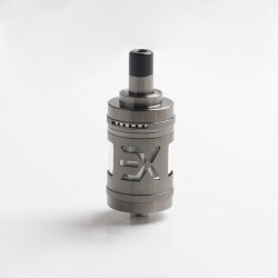Authentic Fucig Exvape Expromizer V5 MTL RTA Rebuildable Tank Vape Atomizer - Gun Metal, 2.0ml, SS + Glass + POM, 23mm Diameter