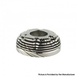 Authentic BP Mods Pioneer MTL / DL RTA Replacement Damascus Blade Top Cap - Silver (1 PC)