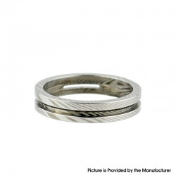 Authentic BP Mods Pioneer MTL / DL RTA Replacement Damascus AFC Airflow Ring - Silver (1 PC)
