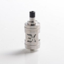 Authentic Fucig Exvape Expromizer V5 MTL RTA Rebuildable Tank Vape Atomizer - Brushed, 2.0ml, SS + Glass + POM, 23mm Diameter