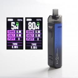 Authentic Wotofo SMRT 2000mAh 80W Pod System Starter Kit - Blue, VW 5~80W, 4.5ml Pod Cartridge