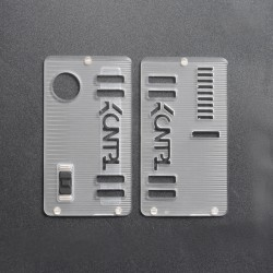 Kontrl Style Front + Back Door Panel Plates w/ Black Button for dotMod dotAIO Vape Pod System - Frost Clear, Acrylic (2 PCS)