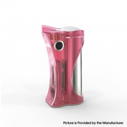 Authentic Ambition Mods and R. S. S.Mods Hera 60W VW Box Mod - Pink Polished, 1~60W, SS316 + PC, 1 x 18650