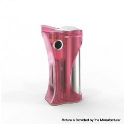 Authentic Ambition Mods and R. S. S.Mods Hera 60W VW Box Mod - Pink Frosted, 1~60W, SS316 + PC, 1 x 18650