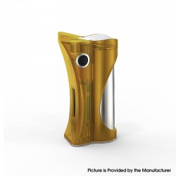 Authentic Ambition Mods and R. S. S.Mods Hera 60W VW Box Mod - Yellow Frosted, 1~60W, SS316 + PC, 1 x 18650