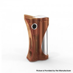 Authentic Ambition Mods and R. S. S.Mods Hera 60W VW Box Mod - Brown Polished, 1~60W, SS316 + PC, 1 x 18650