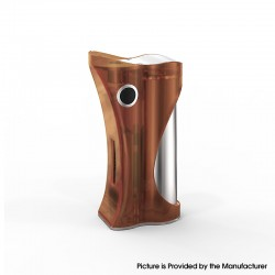 Authentic Ambition Mods and R. S. S.Mods Hera 60W VW Box Mod - Brown Frosted, 1~60W, SS316 + PC, 1 x 18650