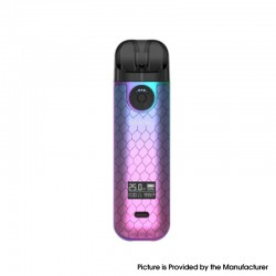 Authentic SMOKTech SMOK NOVO 4 25W Pod System Vape Starter Kit - Cyan Pink Cobra, 5~25W, 800mAh, 2.0ml Pod Cartridge, 0.8ohm