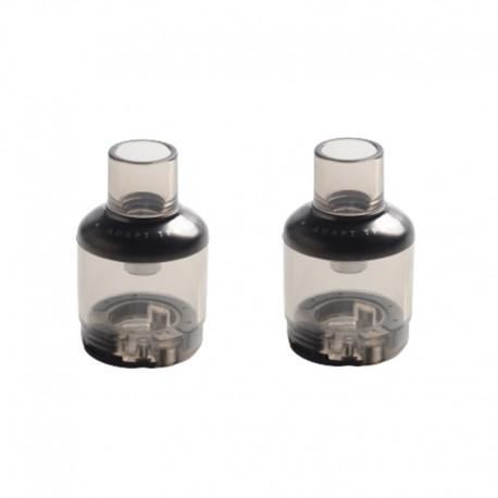 Authentic Voopoo TPP Empty Pod Cartridge for TPP Tank Atomizer / Drag 3 Kit / Drag X Plus Kit - Black, 5.5ml (2 PCS)