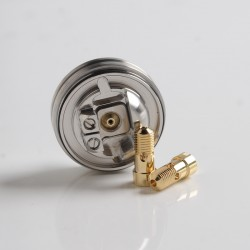 Authentic BP Mods Pioneer RTA Replacement Build Deck w/ 1.2mm + 1.5mm Air Pins - Silver, Stainless Steel (1 PC)