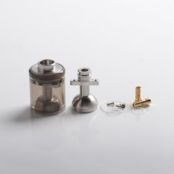 Authentic BP Mods Pioneer MTL / DL RTA Replacement Short Clear Tank Kit - Eclipse, 2.8ml, PCTG + Stainless Steel
