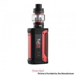 Authentic SMOKTech SMOK Arcfox 230W TC VW Mod + TFV18 Sub Ohm Tank Kit - Prism Red, 5~230W, 2 x 18650, 7.5ml, 0.33ohm / 0.15ohm