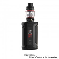 Authentic SMOKTech SMOK Arcfox 230W TC VW Mod + TFV18 Sub Ohm Tank Kit - Bright Black, 5~230W, 2 x 18650, 7.5ml, 0.33ohm/0.15ohm