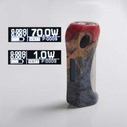 Authentic ULTRONER Alieno 70W TC VW Variable Wattage Vape Box Mod - Blue, Stabilized Wood, 1~70W, 1 x 18650, SEVO 70 Chipset