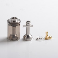 Authentic BP Mods Pioneer MTL / DL RTA Replacement Long Clear Tank Kit - Eclipse, 4.4ml, PCTG