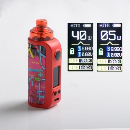 Authentic Asvape Hita Ink 40W Pod System Vape Mod Kit - Cyberpunk, 1500mAh, 5~40W, 3.0ml