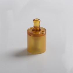 Authentic Ambition Mods and The Vaping Gentlemen Club Bishop MTL RTA Bell Cap + Chimney + Drip Tip Kit - Brown, 4.0ml, PEI + SS