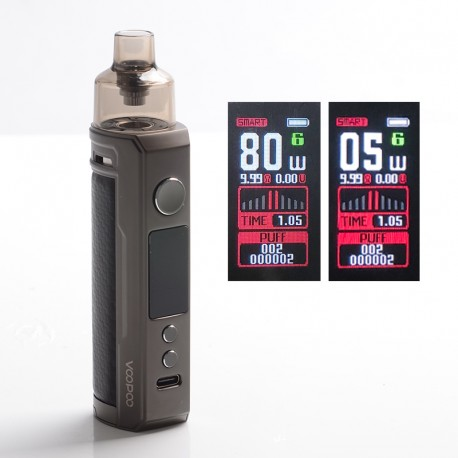 [Ships from HongKong] Authentic VOOPOO DRAG X 80W VW Mod Pod System - Carbon Fiber, 4.5ml, 0.15ohm / 0.3ohm, 5~80W, 1 x 18650